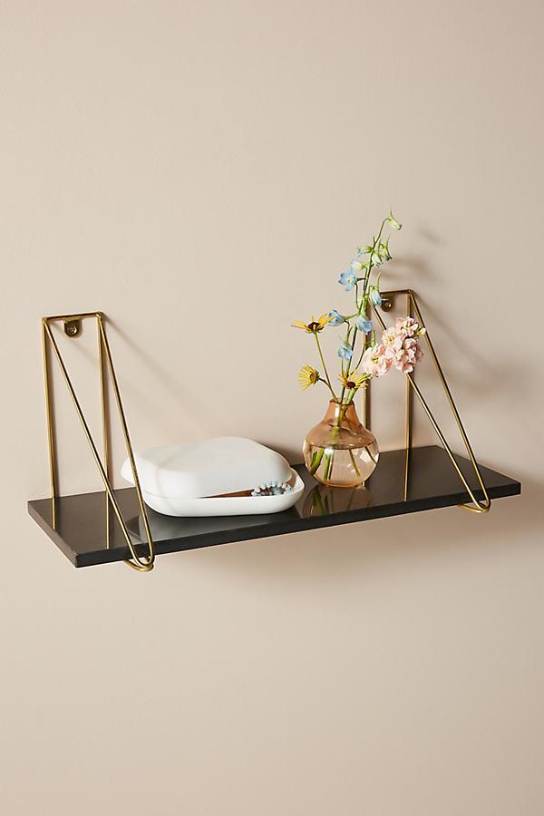 Serena Marble Shelf - Black, Size L