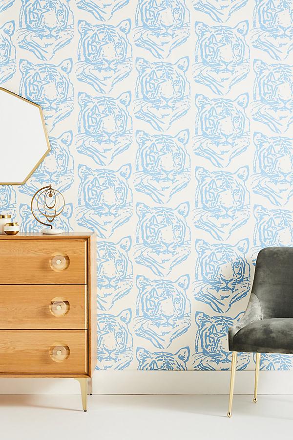 Aimee Wilder Star Tiger Wallpaper In Blue