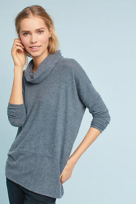 Slide View: 2: Brushed Cowl Neck Tunic