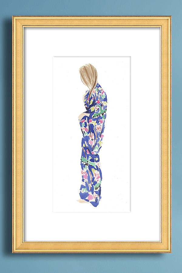 Kimono Wall Art - Beige, Size M