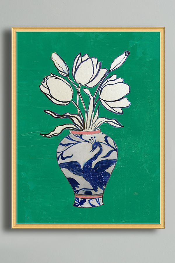 Flowers In A Vase Wall Art Anthropologie
