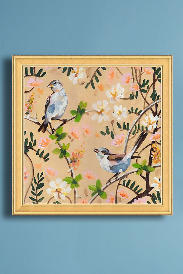 Two Birds In A Tree Wall Art | Anthropologie