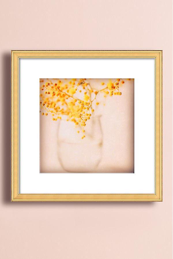 Sweet Mimosa Wall Art - Gold, Size S