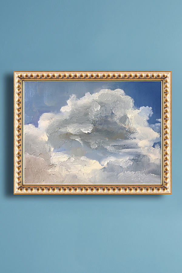 Clouds Wall Art - Gold, Size S