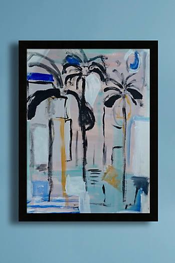 Golden palms wall art