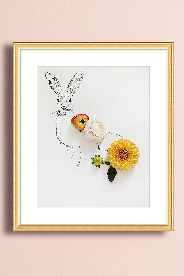 Rabbit No. 1 Wall Art - Gold