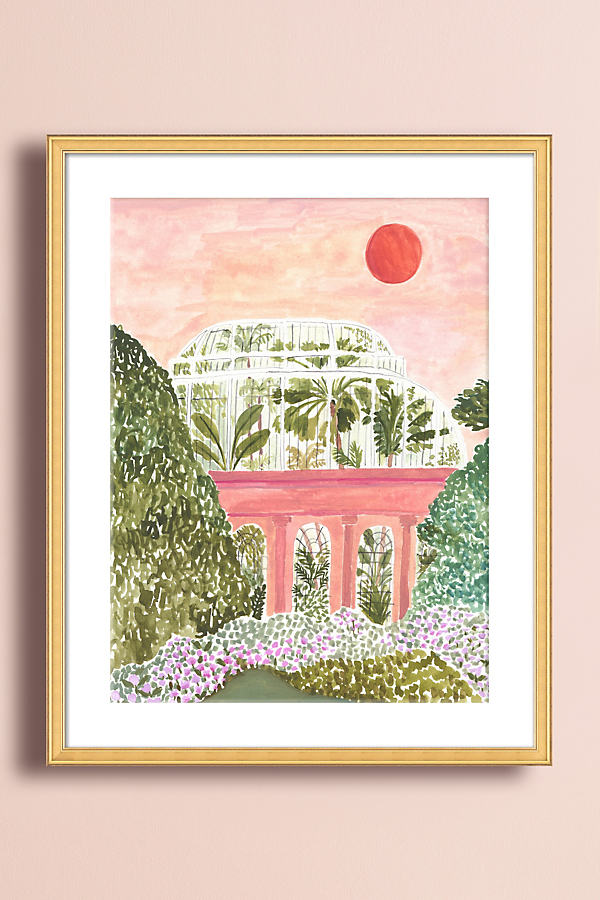 Palm House Wall Art - Gold, Size L