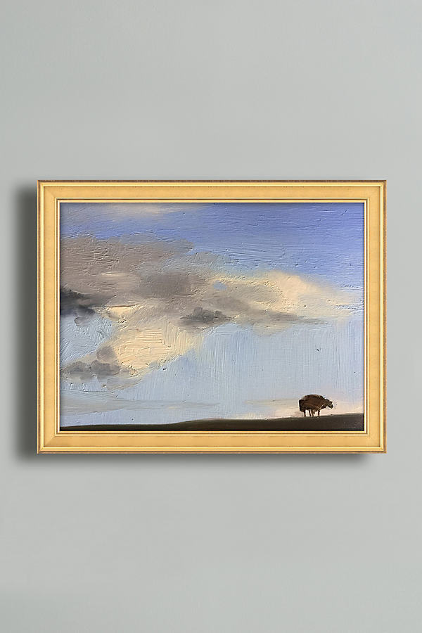 Clouds Over The Dyke Wall Art - Gold