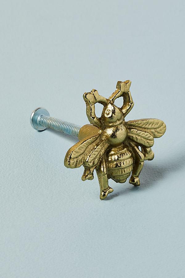 Antique-Brass Bee Knob