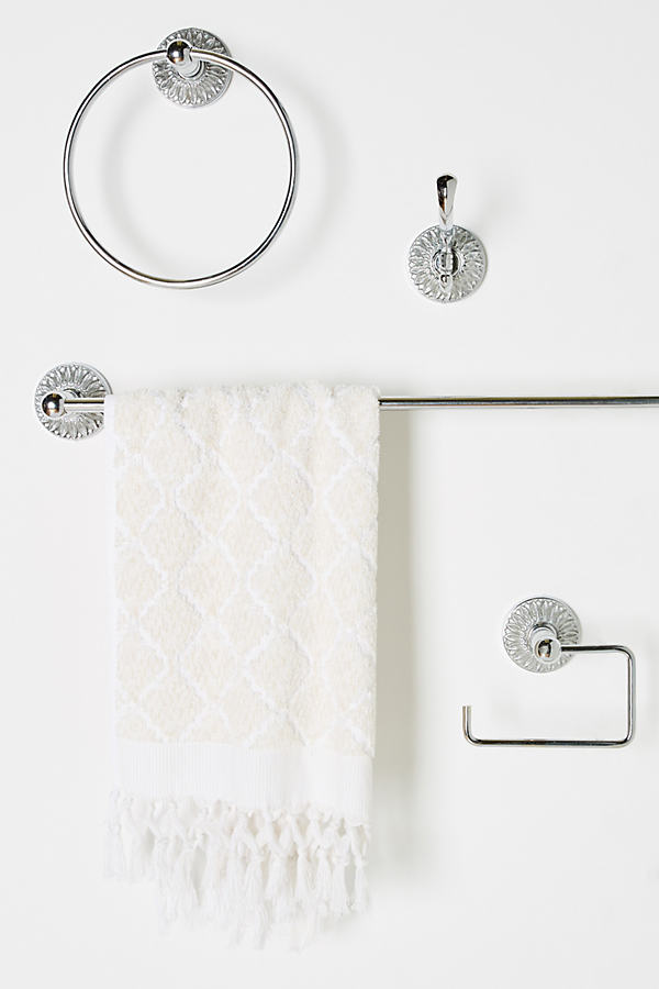 Floral Antique Bath Hardware Collection - Grey