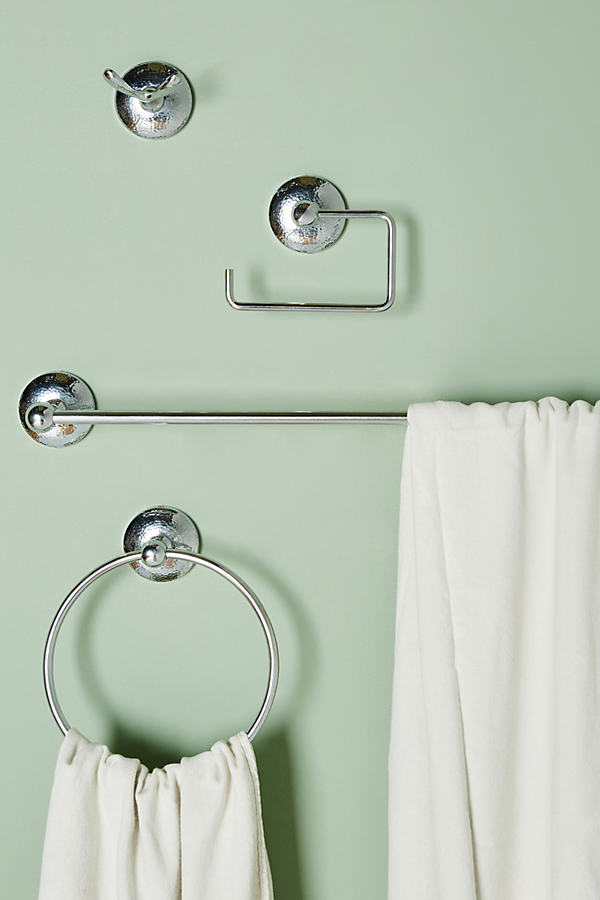Hammered-Effect Bath Collection - Grey, Size Xl