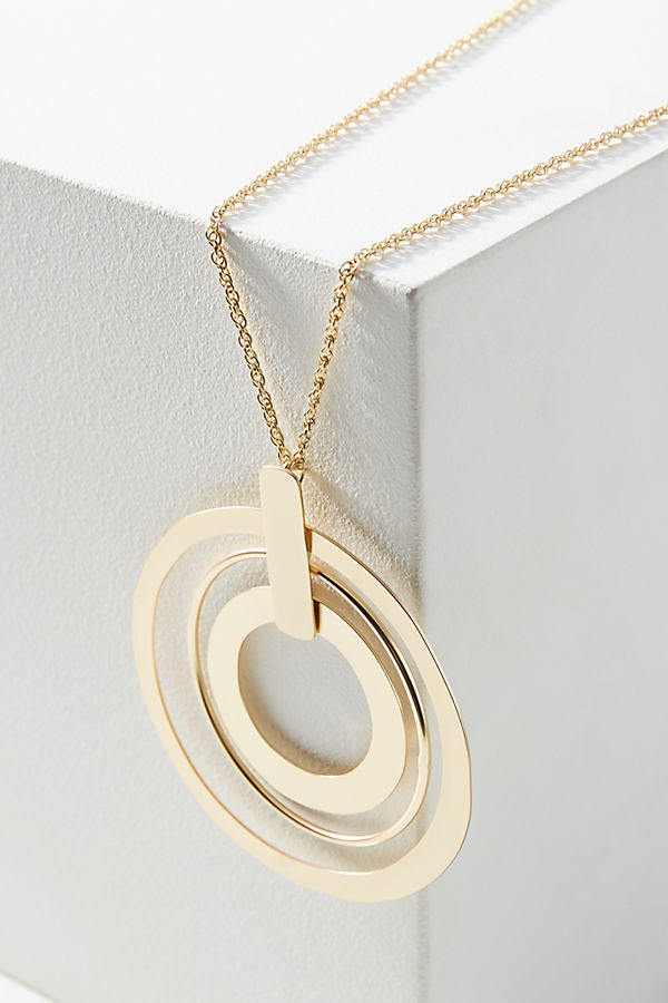 Concentric Circles Necklace - Gold