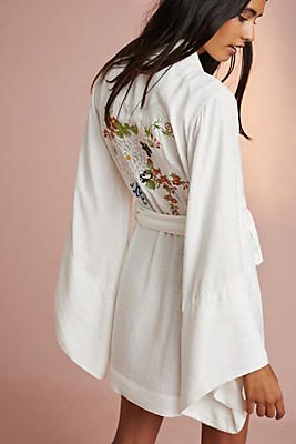 Slide View: 1: Floreat Adachi Printed Robe