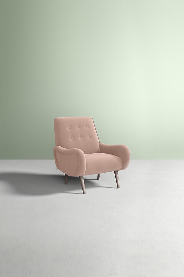 Velvet Losange Chair - White