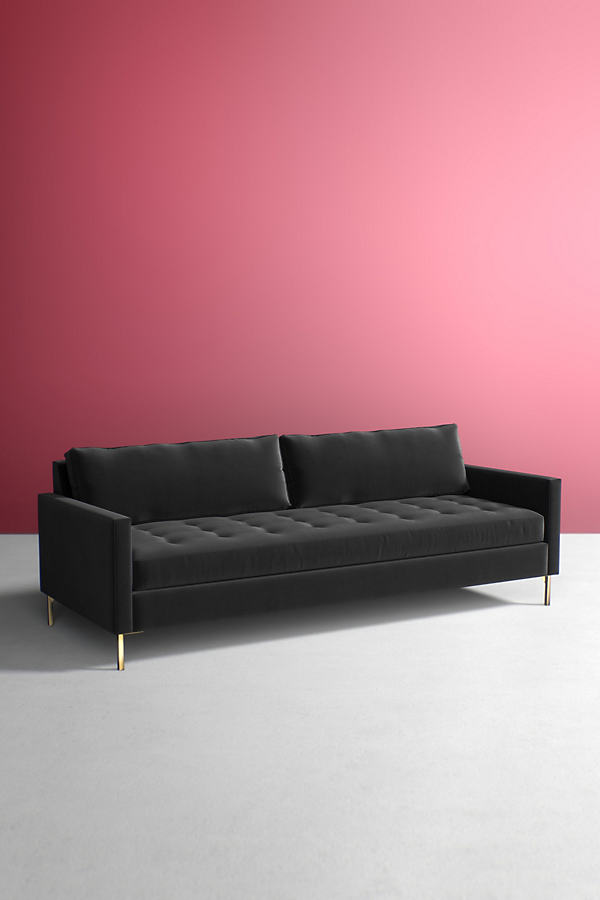 Angelina Velvet Sofa - Grey