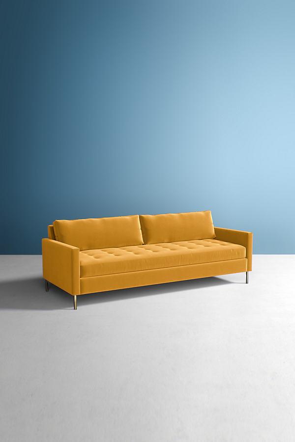Angelina Velvet Sofa - Gold