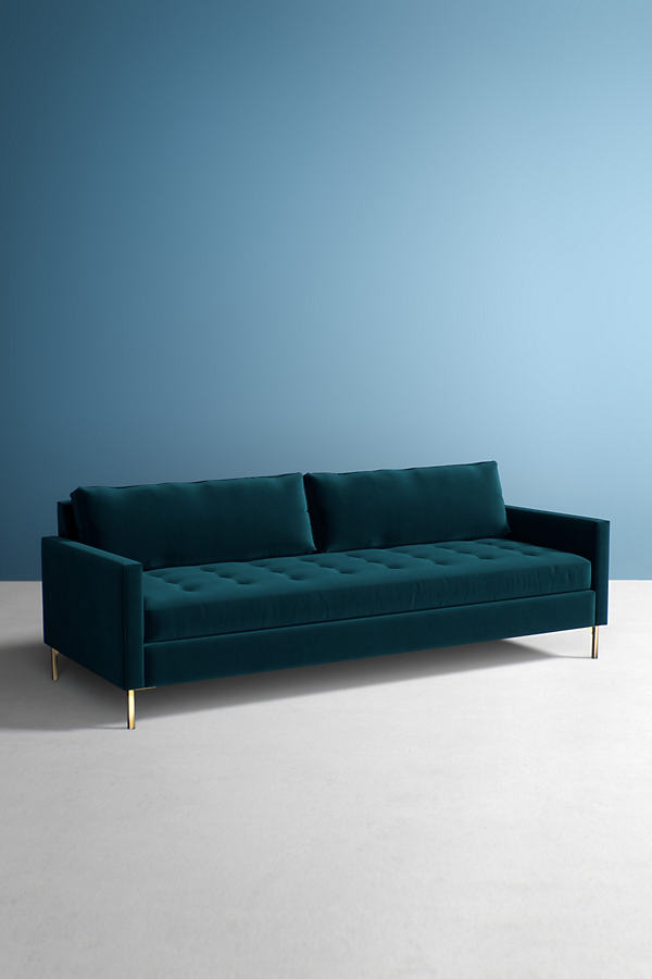 Angelina Velvet Sofa - Blue