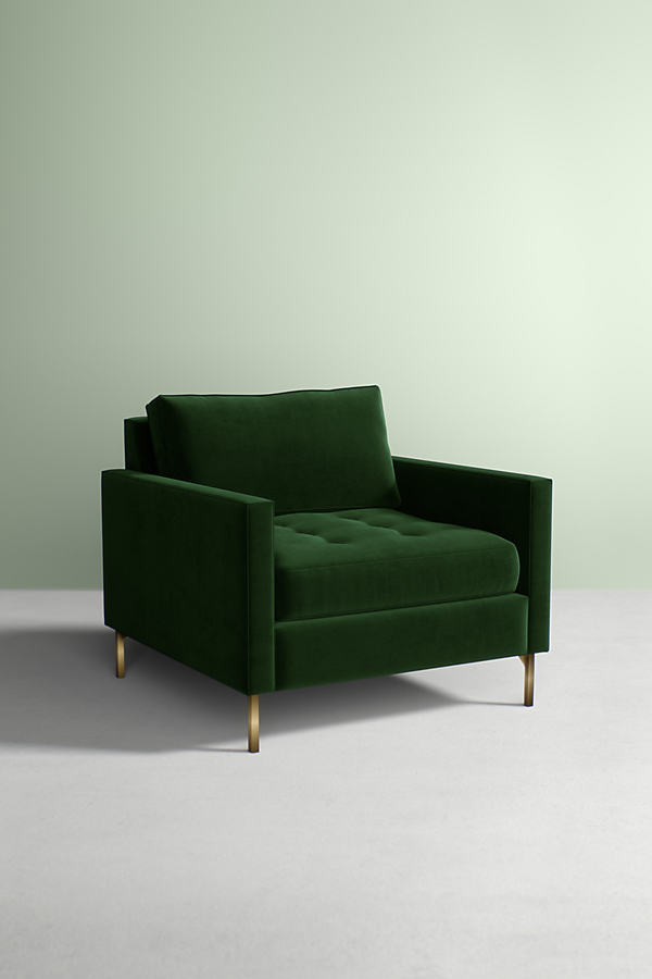 Angelina Velvet Chair - Green
