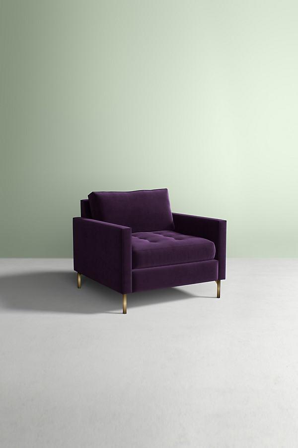 Angelina Velvet Chair - Purple