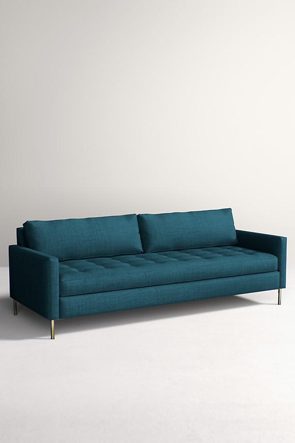 Angelina Sofa, Linen - Blue