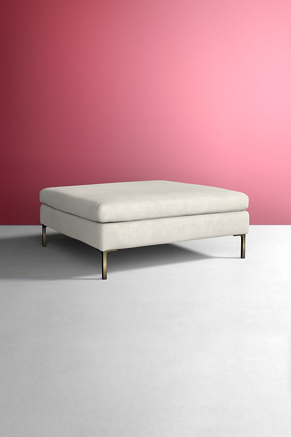 Edlyn Grand Linen Ottoman - Beige