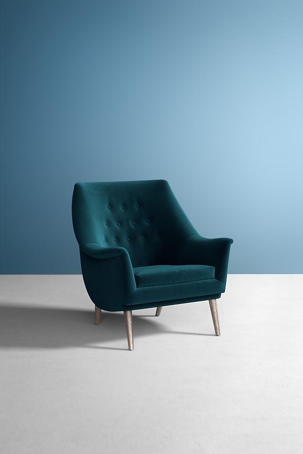 Lucha Velvet Chair - Blue
