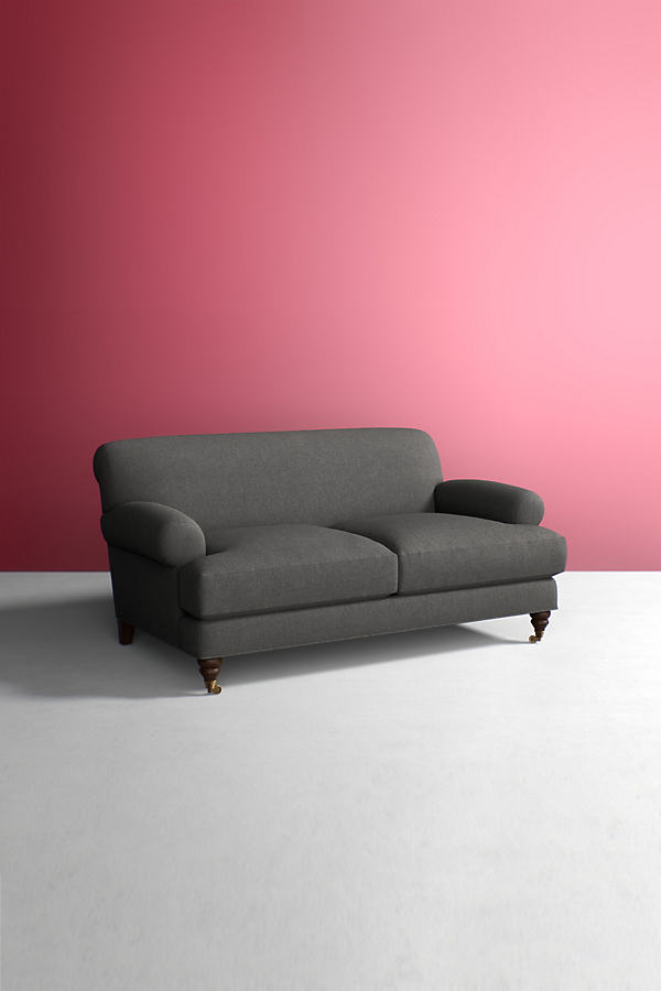 Willoughby Sofa, Wool with Hickory Leg - Grey