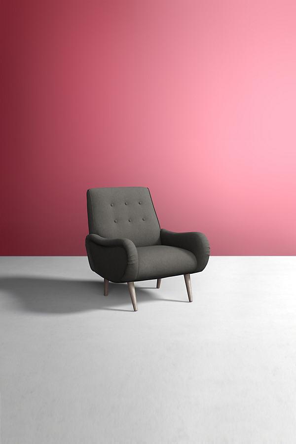 Losange Chair, Peformance Wool - Grey