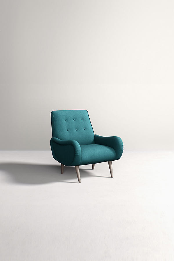 Losange Chair, Peformance Wool - Blue