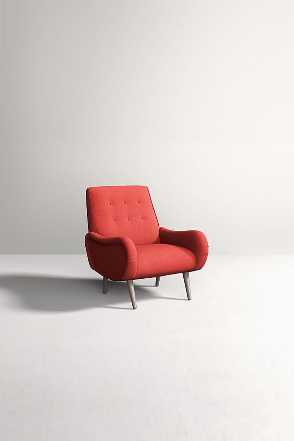 Losange Chair, Peformance Wool - Orange