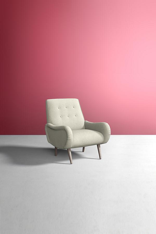 Losange Chair, Wool - White