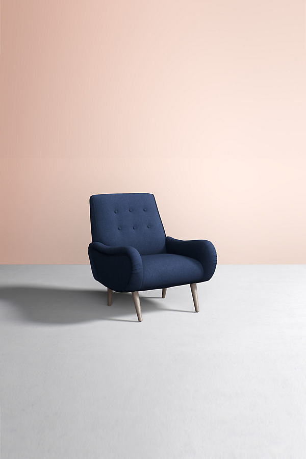 Losange Chair, Wool - Blue