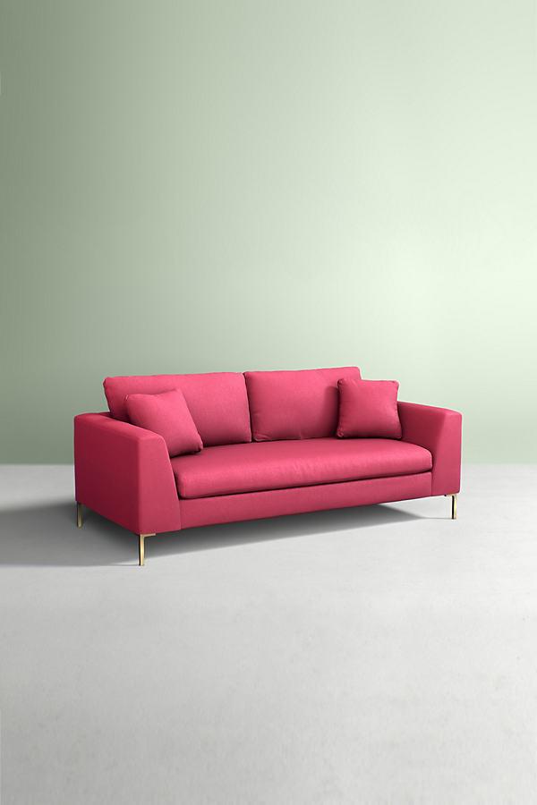 Edlyn Sofa, Performance Wool - Pink
