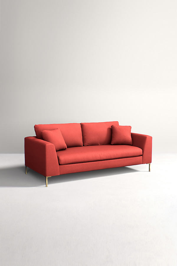 Edlyn Sofa, Performance Wool - Orange