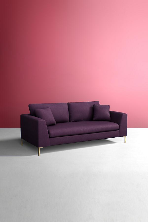 Edlyn Sofa, Wool - Purple