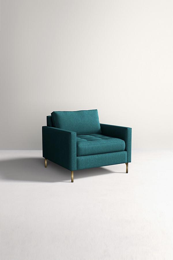 Angelina Chair, Performance Wool - Blue