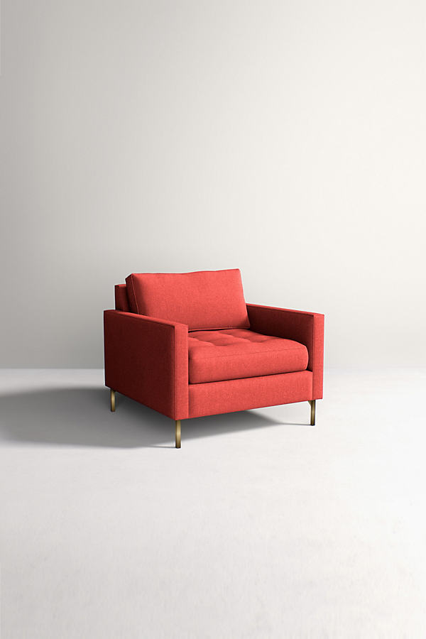 Angelina Chair, Performance Wool - Orange