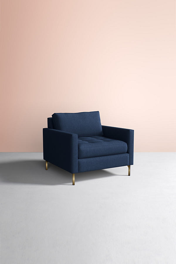 Angelina Chair, Wool - Blue
