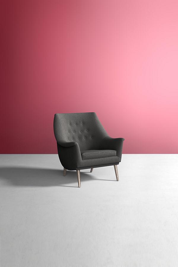 Lucha Chair, Wool - Grey