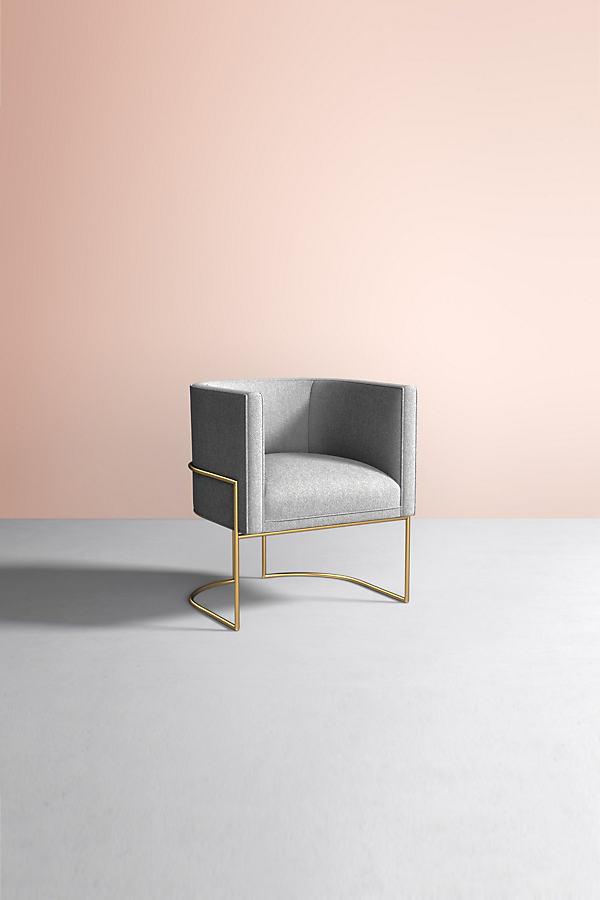 Caddell Chair, Performance Wool - Grey
