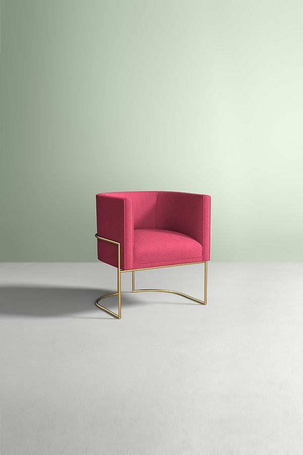 Caddell Chair, Performance Wool - Pink