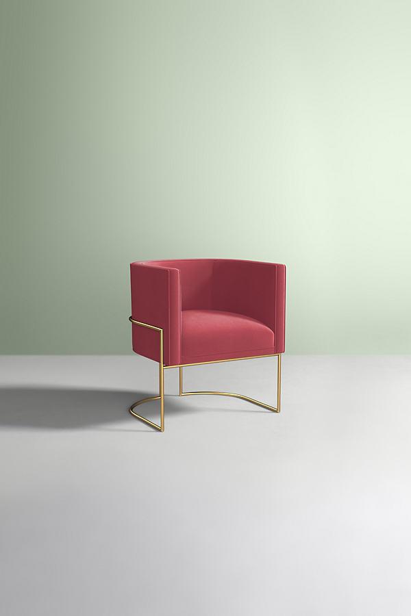 Caddell Velvet Chair - Pink