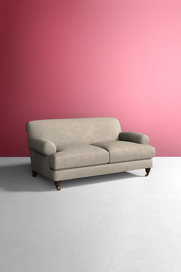 Willoughby Sofa, Performance Linen with Hickory Leg - Beige