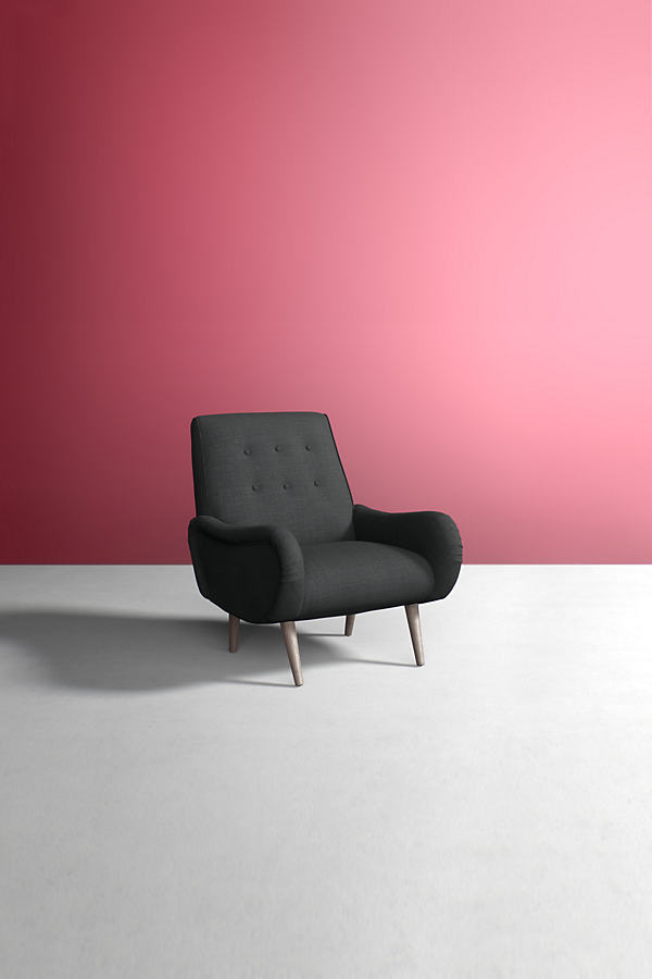 Losange Chair, Performance Linen - Grey