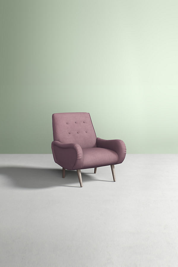 Losange Chair, Performance Linen - Purple