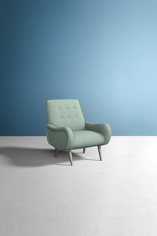 Losange Chair, Performance Linen - Mint