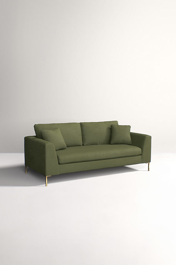 Edlyn Sofa, Performance Linen - Green