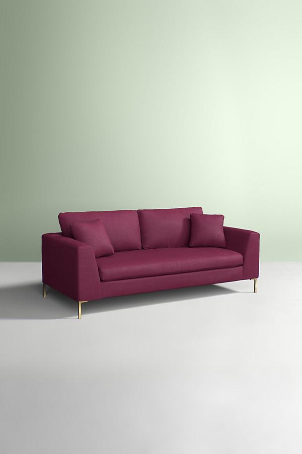 Edlyn Sofa, Performance Linen - Purple