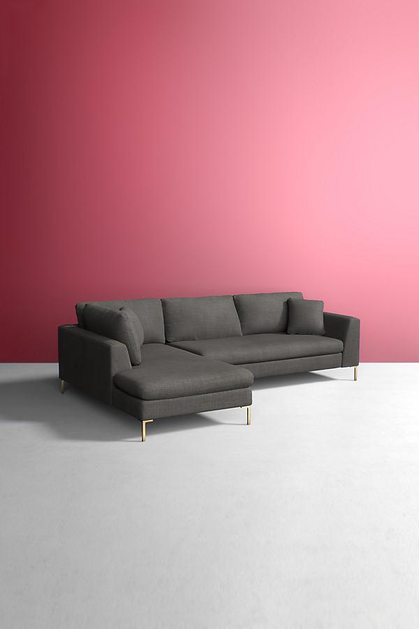Edlyn Left Corner Sofa, Performance Linen - Grey