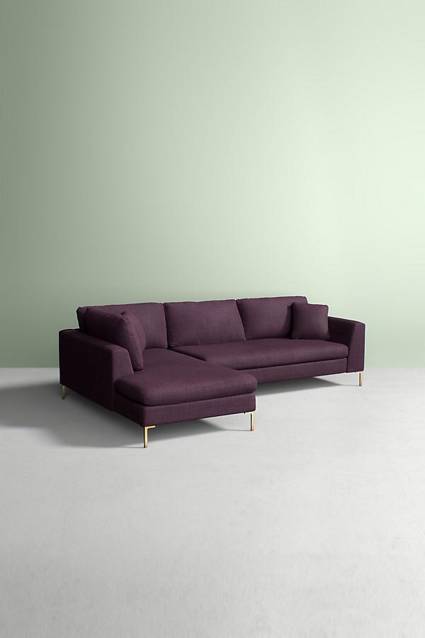 Edlyn Left Corner Sofa, Performance Linen - Purple